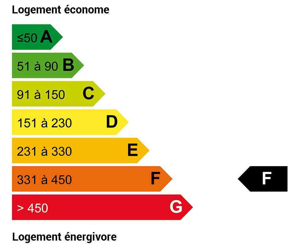 DPE énergie : F